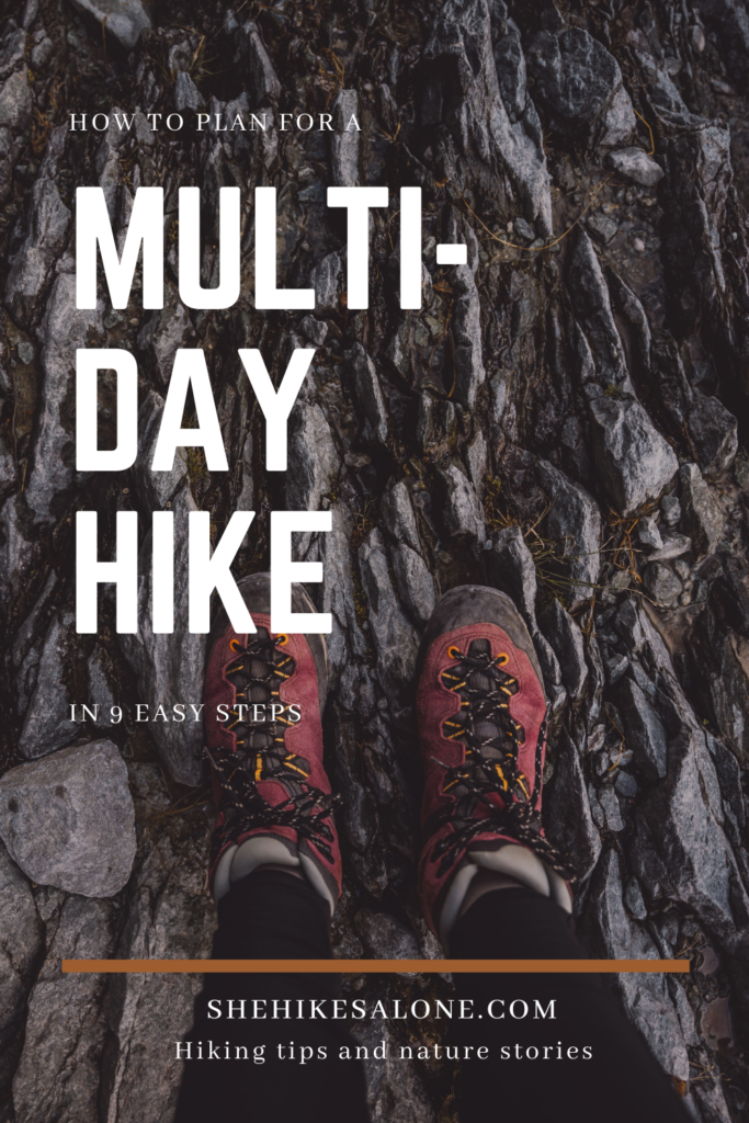 How to plan a multi-day hike